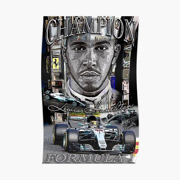 """Affiche """"trophée"""" de Lewis Hamilton Poster"""
