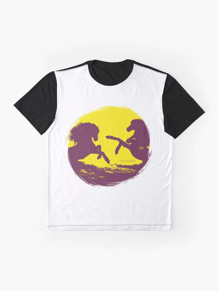 Alternate view of Horse riding sunset (colored) Graphic T-Shirt