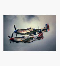 North American P-51 Mustangs Photographic Print