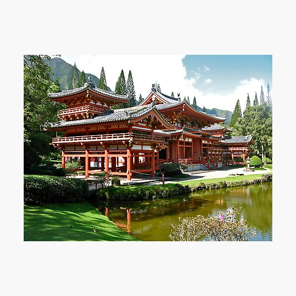 Peace and Serenity, Byodo In Temple, Hawaii Photographic Print