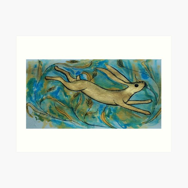 Harvest Hare Art Print