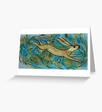 Harvest Hare Greeting Card