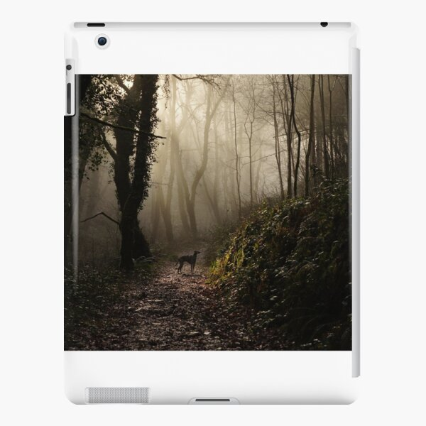 Lurcher in the mist iPad Snap Case