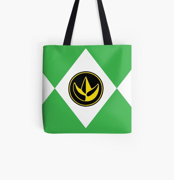 Personalised Childrens Power Rangers Dino Charge Red Ranger Cotton Mini Tote Bag