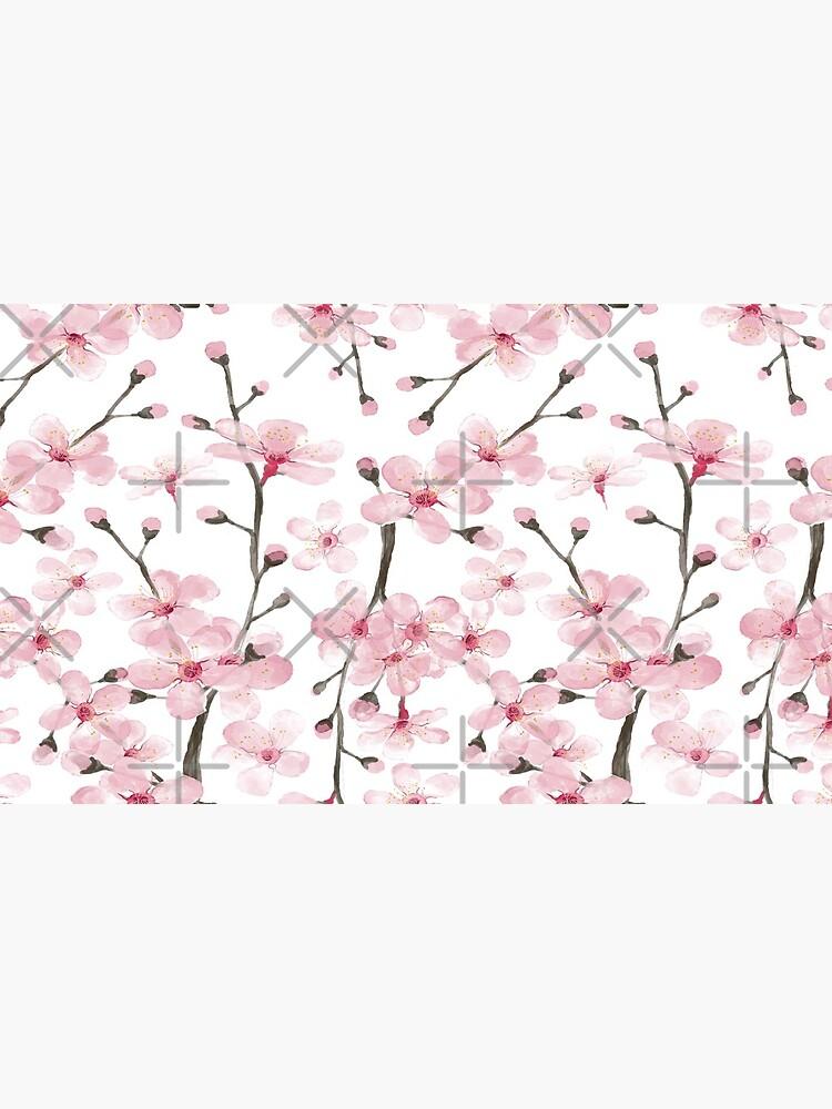 flor de cerezo rosa acuarela de MagentaRose