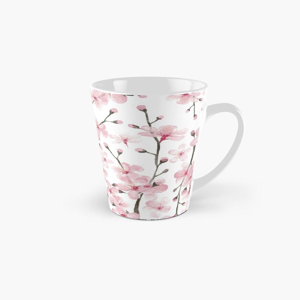 flor de cerezo rosa acuarela Taza