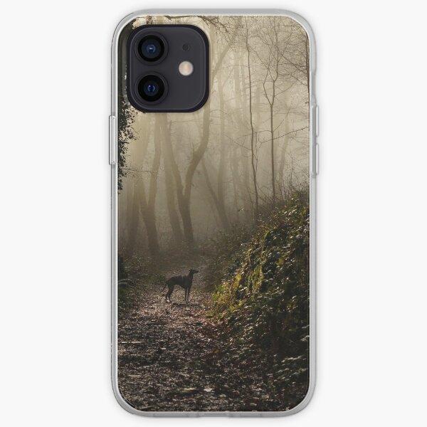 Lurcher in the mist iPhone Soft Case