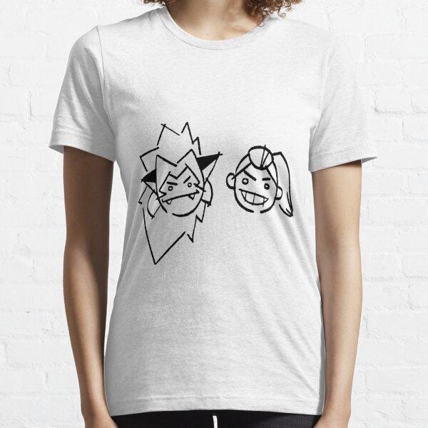 Dibujos de Catra y Adora en la pared - she-ra y las princesas del poder Camiseta esencial