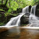 Waterfall at the Black Spout Pitlochry Scotland by Angus Clyne