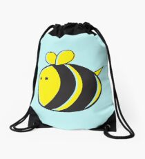 Cute little bumble fat bee Drawstring Bag