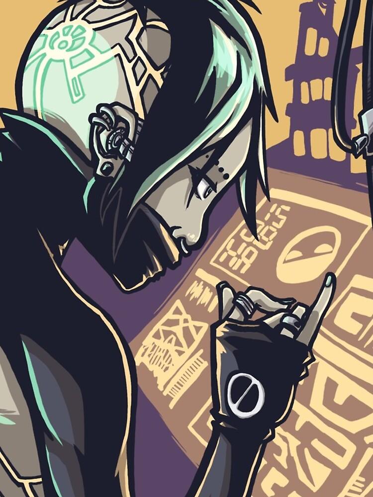 Cyberpunk-Hacker-Mädchen von JamesGrimlee
