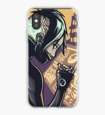 Cyberpunk-Hacker-Mädchen iPhone-Hülle & Cover