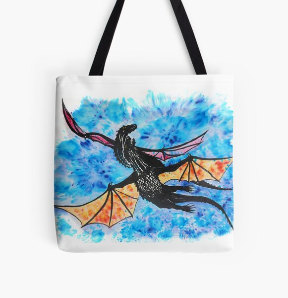 Dancing Dragons All Over Print Tote Bag