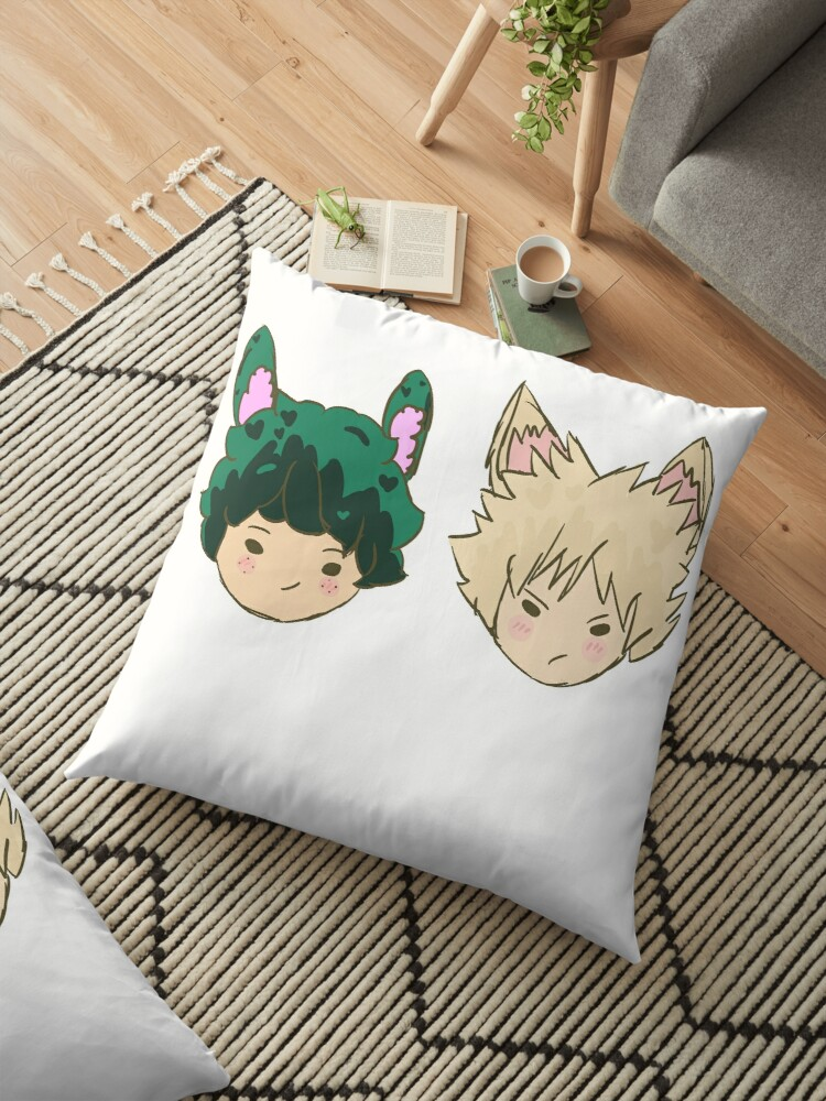 Easter Boiz Deku And Bakugou Chibi Floor Pillow By Kanna Kimarachu