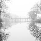 «Spring Lake New Jersey pasarela en la niebla» de Sean Sweeney