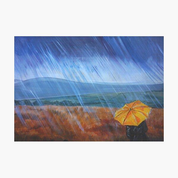 Umbrella in the rain Photographic Print