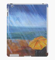 Umbrella in the rain iPad Case/Skin