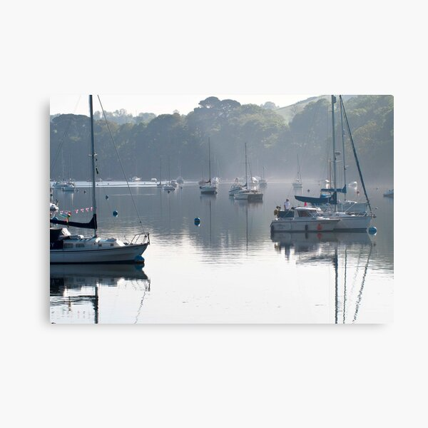 Reflecting masts Metal Print