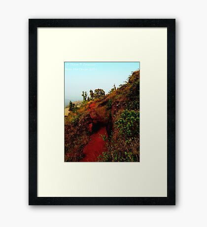 Carving a Path (Karnataka, India) Framed Print