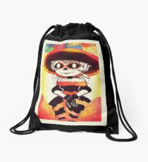 Beautiful Day of the dead girl   Drawstring Bag