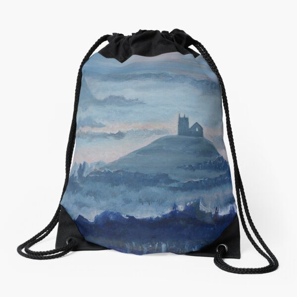 Mists in Avalon Drawstring Bag