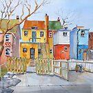 Die hintere Lane (Saint Clair nahe Caledonia) Toronto von bevmorgan