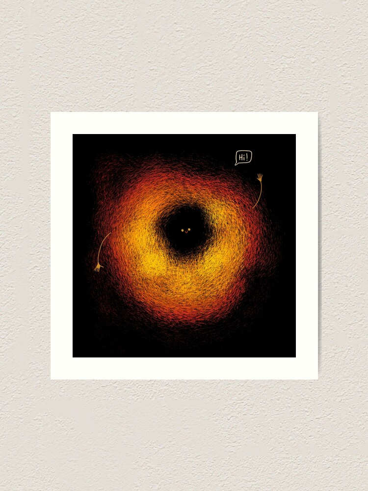 Alternate view of The Black Hole Art Print