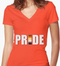 BEAR PRIDE  Fitted V-Neck T-Shirt