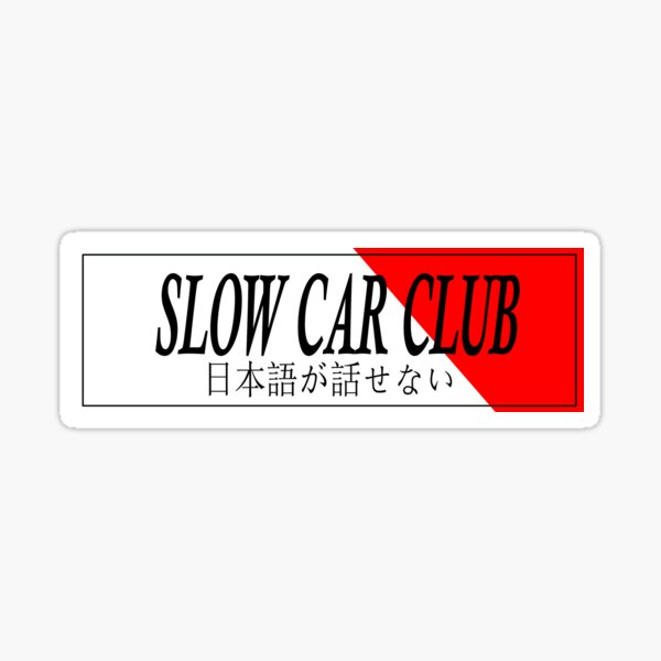 Bofetada de coches - Slow Car Club Pegatina