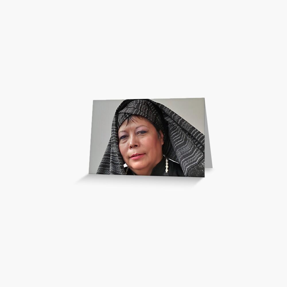 (591) Turban and shawl (card) Greeting Card