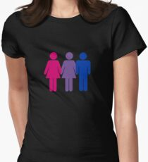 Bisexual Love Fitted T-Shirt