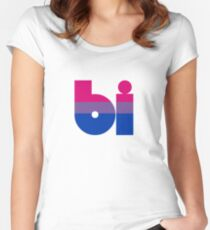 bi tricolor Fitted Scoop T-Shirt