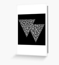 Bisexual Triangles Greeting Card