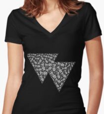 Bisexual Triangles Fitted V-Neck T-Shirt