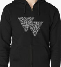 Bisexual Triangles Zipped Hoodie