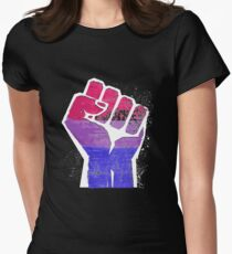 Bisexual Fist Pride Fitted T-Shirt
