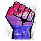 Bisexual Pride Resist Fist by queeradise