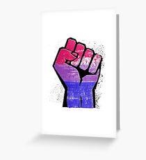 Bisexual Pride Resist Fist Greeting Card