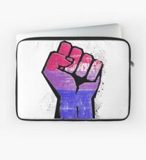 Bisexual Pride Resist Fist Laptop Sleeve