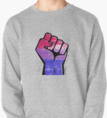 Bisexual Pride Resist Fist Pullover Sweatshirt