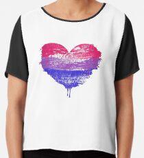 Bisexual Pride Heart Chiffon Top