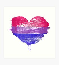 Bisexual Pride Heart Art Print