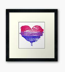 Bisexual Pride Heart Framed Art Print