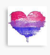 Bisexual Pride Heart Metal Print