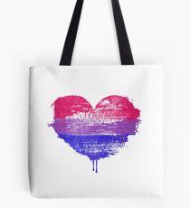 Bisexual Pride Heart Tote Bag