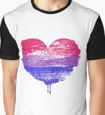 Bisexual Pride Heart Graphic T-Shirt