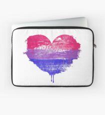 Bisexual Pride Heart Laptop Sleeve