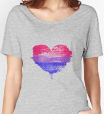 Bisexual Pride Heart Relaxed Fit T-Shirt