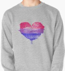 Bisexual Pride Heart Pullover Sweatshirt