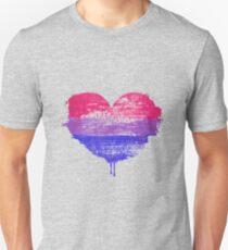 Bisexual Pride Heart Slim Fit T-Shirt